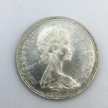 1 Δολάριο 1966 Large Beads Καναδάς