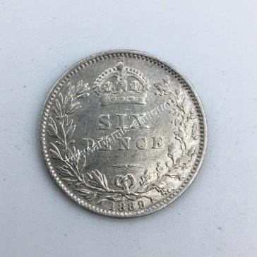 6 Pence 1889 Ηνωμένο Βασίλειο