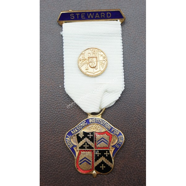 Masonic medal STEWARD 1980