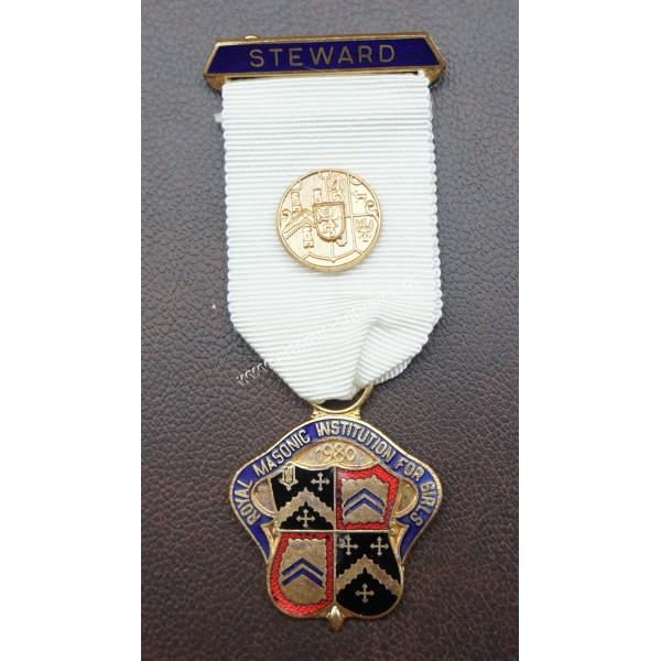 Μασονικό Μετάλλιο STEWARD 1980