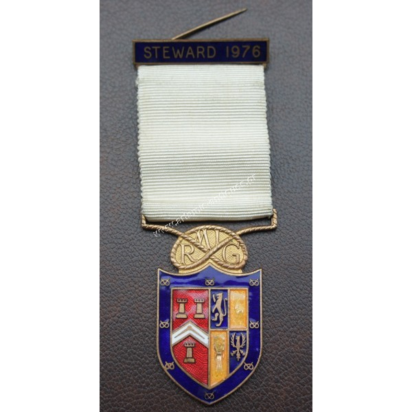 Masonic medal Steward 1976