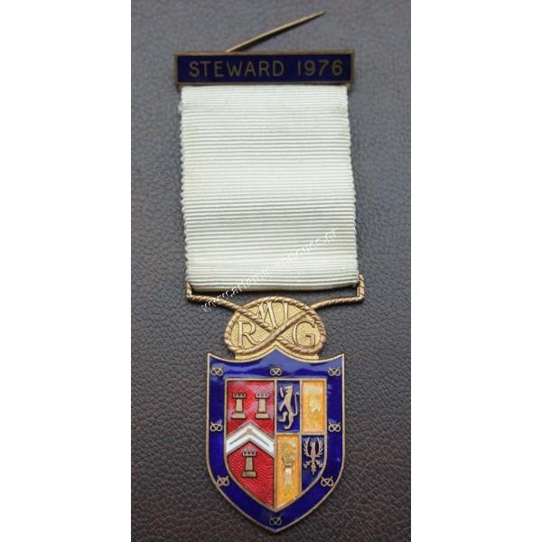 Μασονικό Μετάλλιο STEWARD 1976