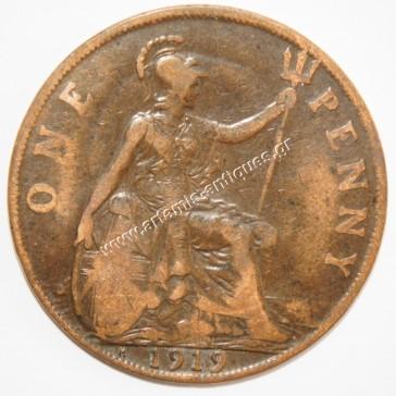 1 Penny 1919 H United Kingdom