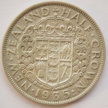 Half Crown 1935 New Zealand