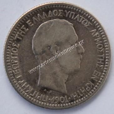50 Lepta 1901 Cretan State