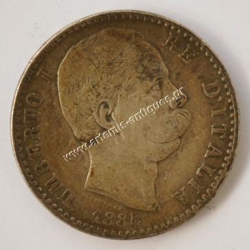 2 Lire 1884 Italy