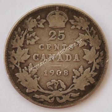 25 Σεντς 1908 Καναδάς