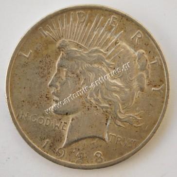 "1 Dollar "" Peace Dollar "" 1928"