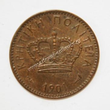 1 Leptto 1901 Cretan State