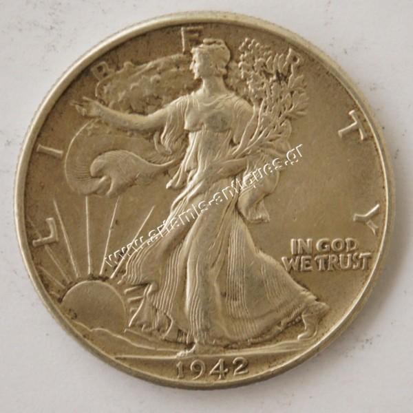 "Half Dollar 1942 "" Walking Liberty """