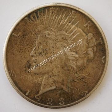 """1 Δολάριο 1923 S """" Δολάριο Ειρήνης """""""