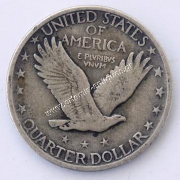Quarter Dollar 1918 D Standing Liberty