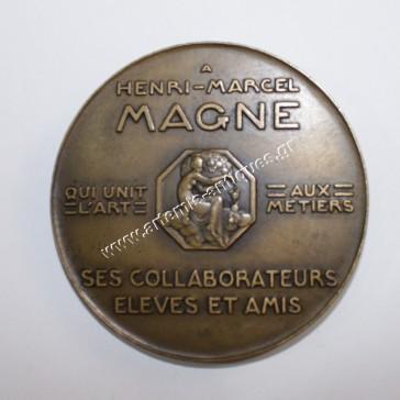 A HENRI-MARCEL MAGNE MCMXXXVI - Μπρούτζινο μετάλλιο του P. Turin