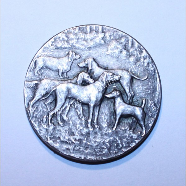 CANINE EXPOSITION MEDAL BY BOUSSARD - 1924