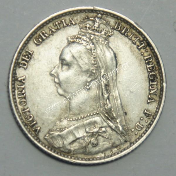 6 Pence 1890 United Kingdom