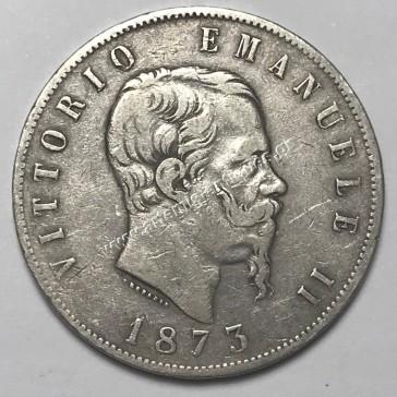 5 Λίρε 1873 Μ ΒΝ Ιταλία
