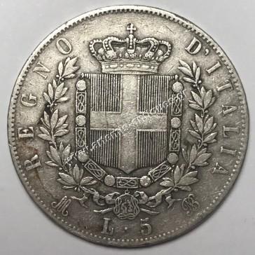 5 Lire 1873 M BN Italy