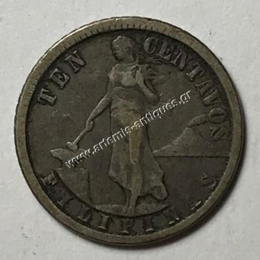 10 Centavos 1913 Filippines