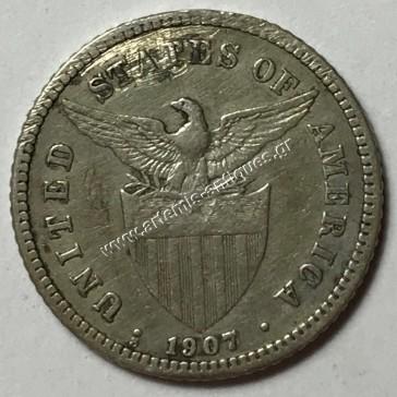 20 Centavos 1907 S Φιλιππίνες