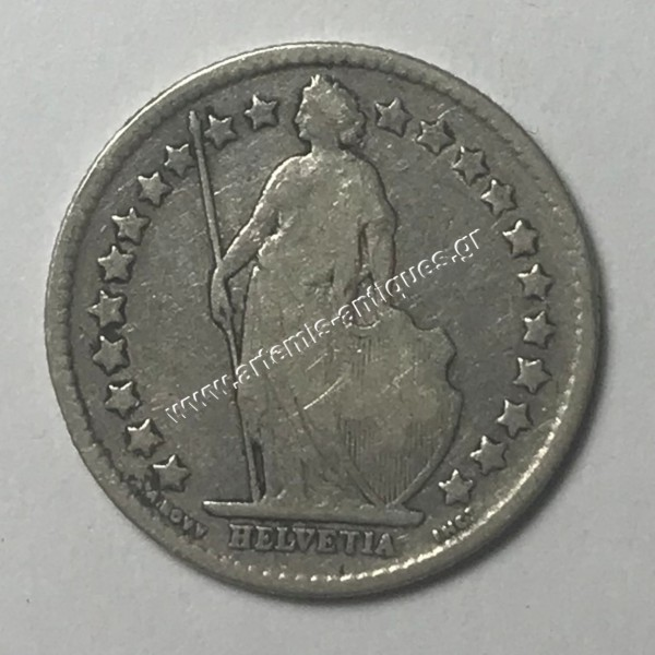1/2 Φράγκο 1900 Ελβετία