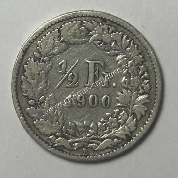 1/2 Franc 1900 Switzerland