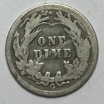 """10 Cents 1898 O """" Barber Dime """""""