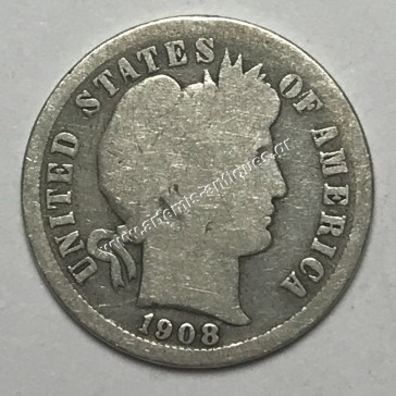 """10 Cents 1908 O """" Barber Dime """""""