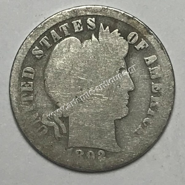 """10 Cents 1892 O """" Barber Dime """""""