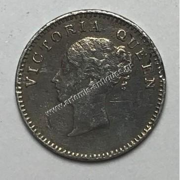 2 Annas 1841 India-Britain
