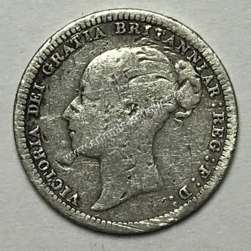 6 Πένες 1880 Ηνωμένο Βασίλειο