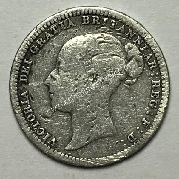 6 Pence 1880 United Kingdom