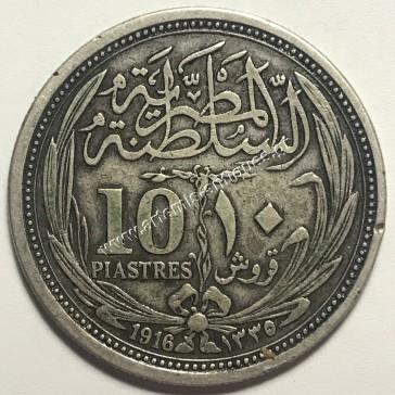 10 Piastres 1335/1916 Egypt