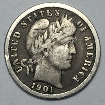 """10 Cents 1901 O """"Barber Dime"""""""