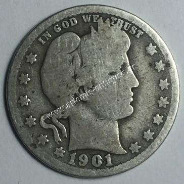 25 Cents 1901 Barber Quarter