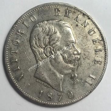 5 Lire 1870 M BN Italy
