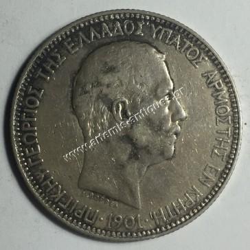 5 Drachmas 1901