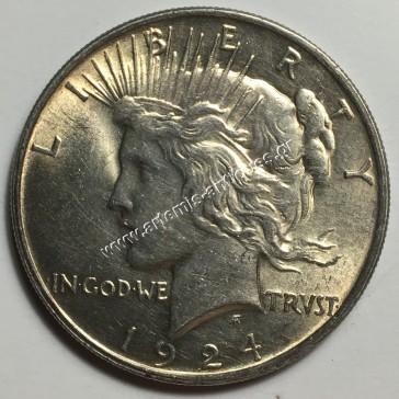 "1 Dollar 1924 "" Peace Dollar """